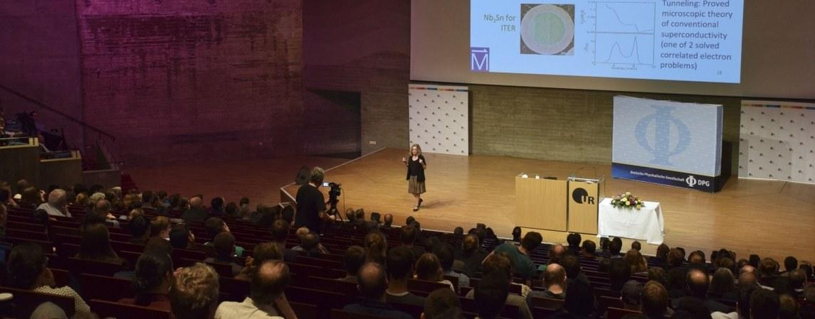 Vortrag auf der Festsitzung auf der DPG-Frühjahrstagung in Regensburg