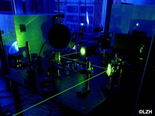 Optischer Messaufbau zur Bestimmung der laserinduzierten Absorption mittels Laserkalorimetrie