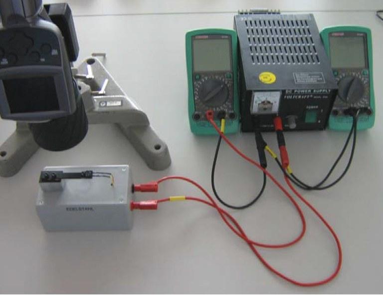 Abbildung 1: Erster Versuchsteil zur Bestimmug des Temperaturgradienten.