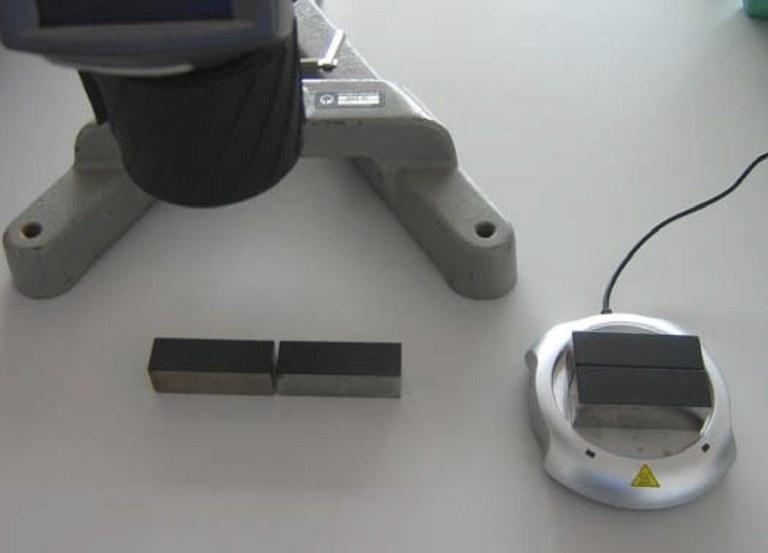 Abbildung 2: Zweiter Versuchsteil zur Bestimmung der instationären Wärmeleitung.