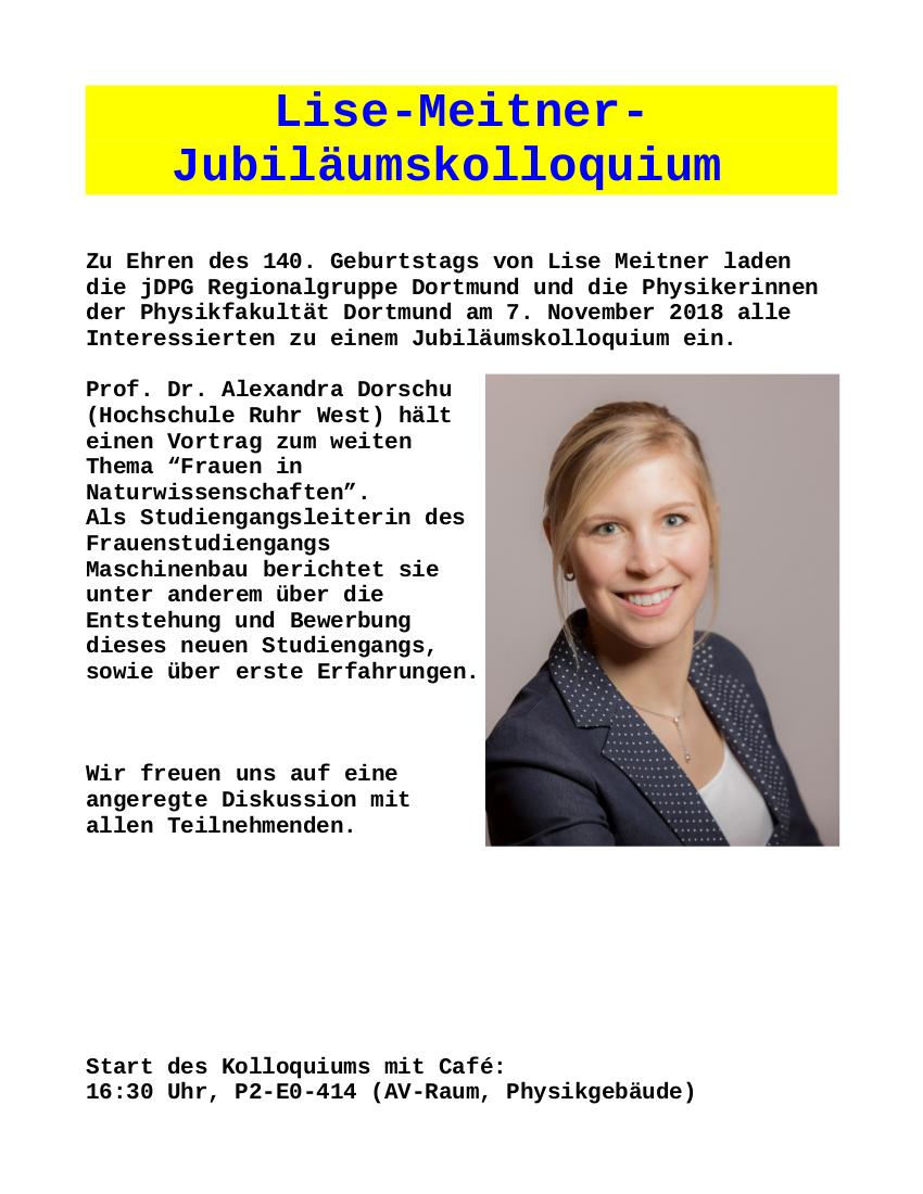 Lise-Meitner-Jubiläumskolloquium