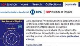 Helmholtz-Forscher publizieren im New Journal of Physics zu Sonderkonditionen
