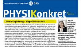 """DPG warnt vor Eingriff ins Klima durch """"Climate Engineering"""""""