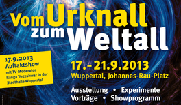 """Das Wuppertaler Wissenschaftsfestival """"Vom Urknall zum Weltall"""" begeisterte mehr als 30.000 Besucher"""