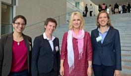 Vertreterinnen der jDPG und des AKC im Kanzleramt