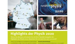 Gastgeber für die Highlights der Physik 2020 gesucht!