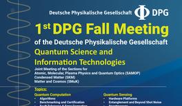 Anmeldung zur 1. DPG-Herbsttagung 2019 geöffnet!