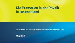 Die Promotion in der Physik in Deutschland