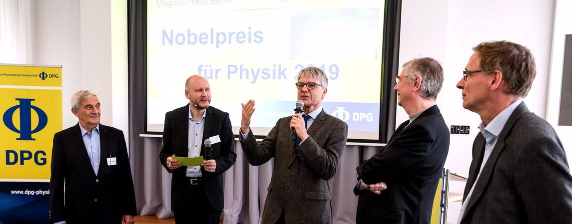 Bekanntgabe des Nobelpreises für Physik 2019