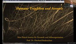 Humane Tröpfchen und Aerosole